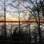 Landschaft bis zum Sonneuntergang